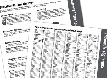 Sample image of Parapluie project: Bell Aliant Telephone Directory Introduction Pages