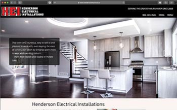 Sample image of Parapluie project: Henderson Electrical Installations Service and Sales Website